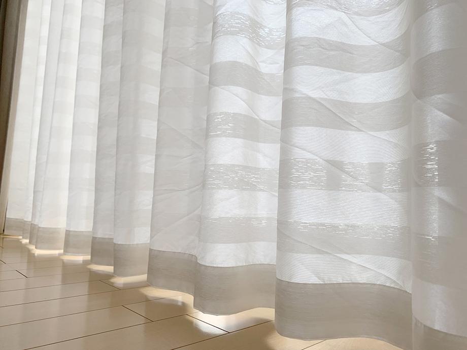 長すぎるカーテン丈を短くする方法【フック・テープ・ミシンまで】